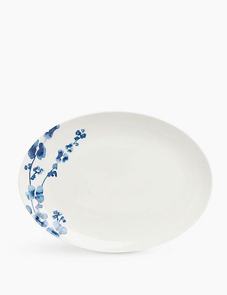 Fine China Floral Small Oval Platter