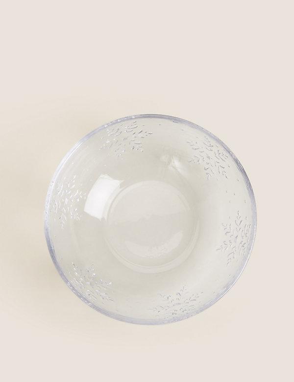 Christmas Glass Serving Bowl
