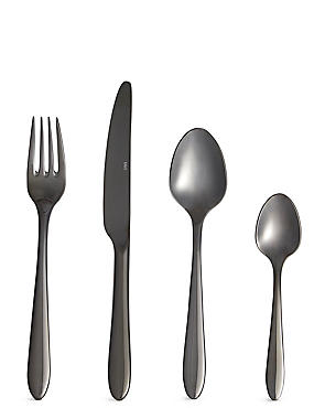 16 Piece Maxim Gunmetal Cutlery Set
