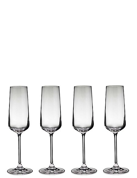 Set of 4 Nova Champagne Glasses