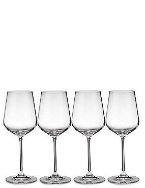 4 Nova White Wine Glasses