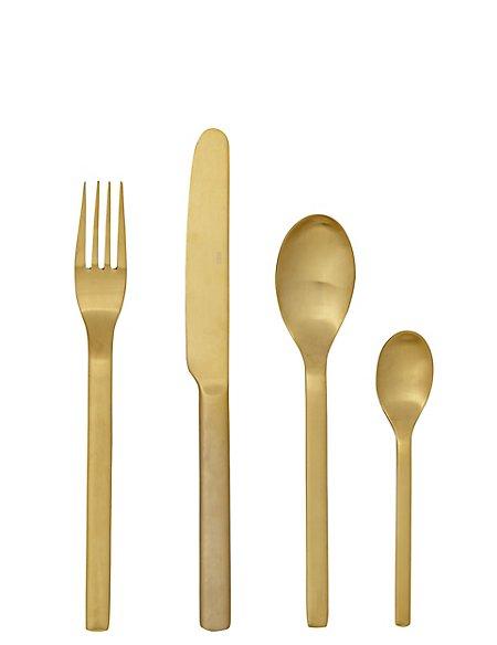 16 Piece Astoria Brushed Cutlery Set