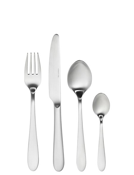 Avalon 16 Piece Brushed Stainless Steel Cutlery Set