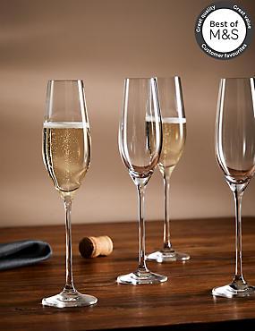 4 Pack Maxim Champagne Flute Glasses