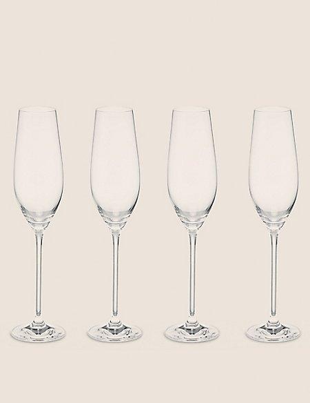 Set of 4 Pack Maxim Champagne Flute Glasses