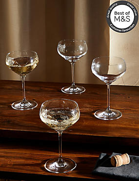 4 Pack Maxim Champagne Saucers