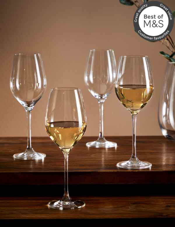 c8cdce4cf8 Set of 4 Maxim White Wine Glasses
