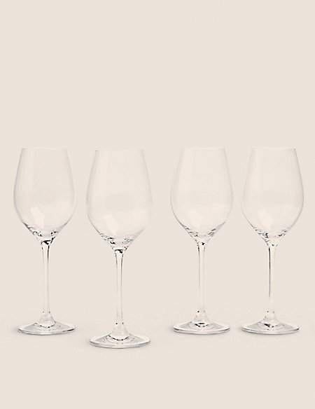 Set of 4 Maxim White Wine Glasses