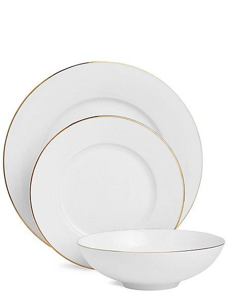 12 Piece Maxim Gold Dinner Set