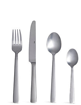 16 Piece Toronto Brushed Cutlery Set