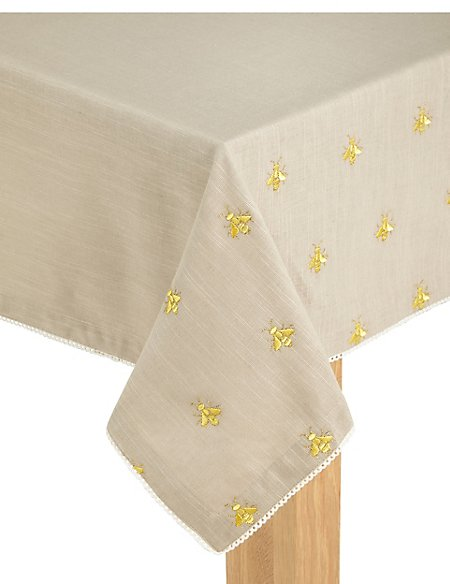 Embroidered Bee Tablecloth