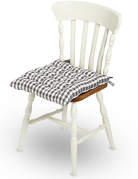 Gingham Seat Pad