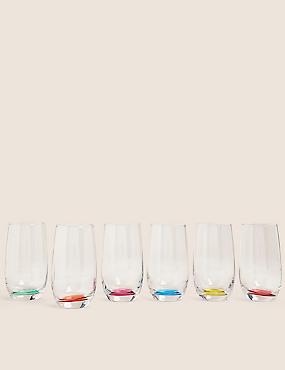 Lot de 6verres hauts multicolores