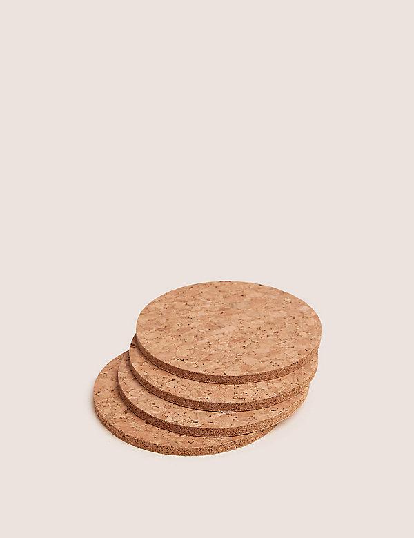 Set of 4 Round Cork Coasters