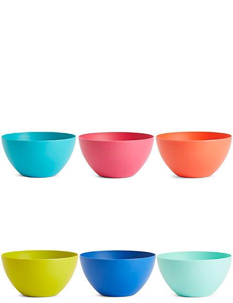 Set of 6 Picnic Bowls