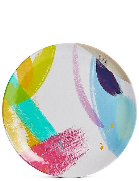 Brushstrokes Melamine Dinner Plate