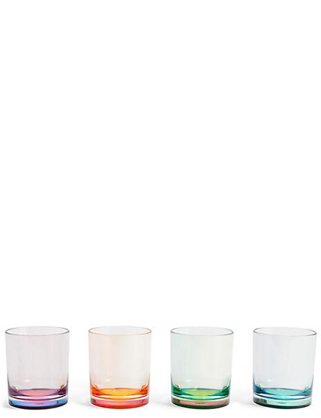Set of 4 Colourful Tumblers