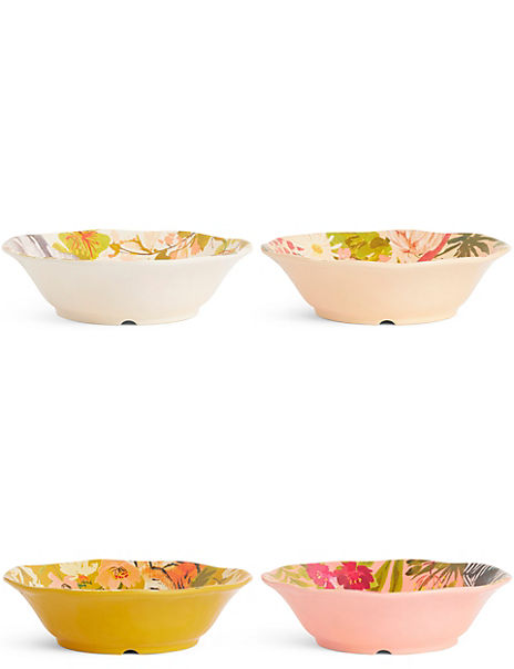 Set of 4 Sun-baked Pasta Bowls