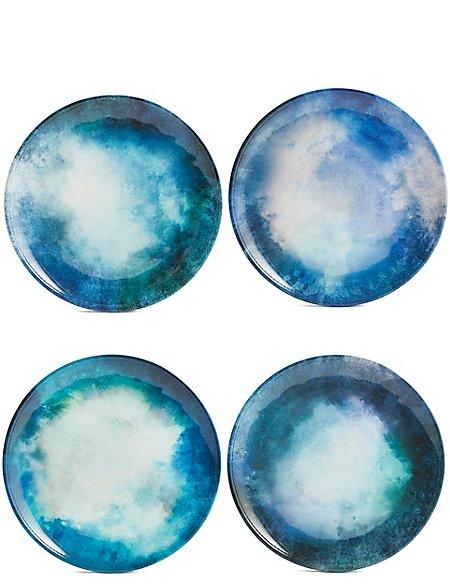Set of 4 Reactive Side Plates