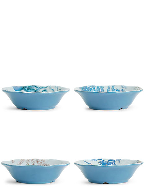 Set of 4 Nautical Cereal Bowls