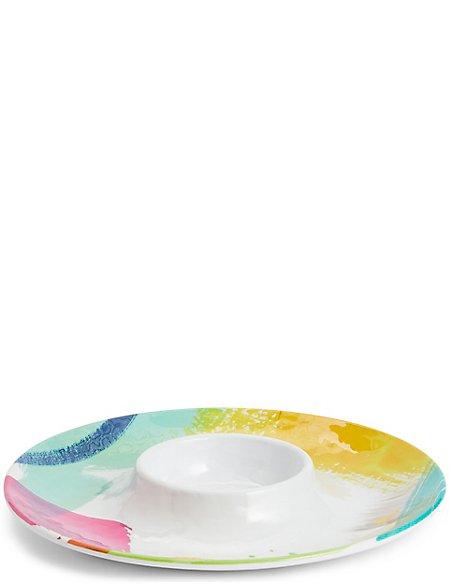 Brushstrokes Chip & Dip Platter