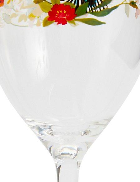 Sun-baked Zebra Acrylic Wine Glass