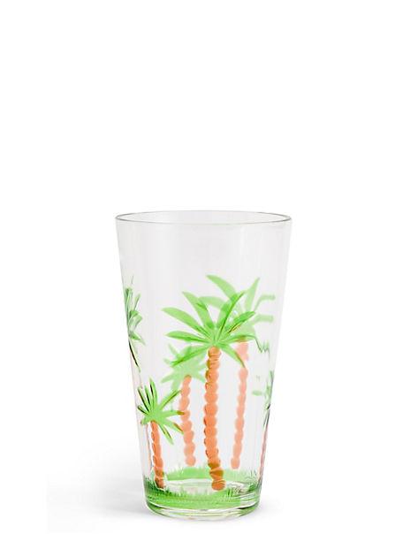 Palm Tree Hi Ball Glass