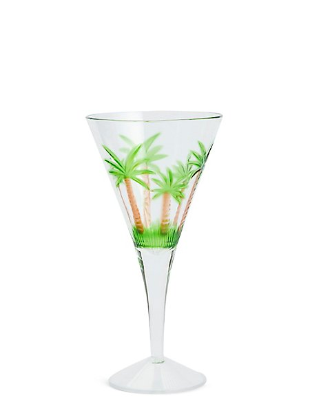 Palm Tree Acrylic Wine Glass
