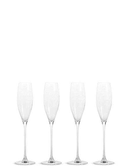 Set of 4 Elegance Champagne Flutes