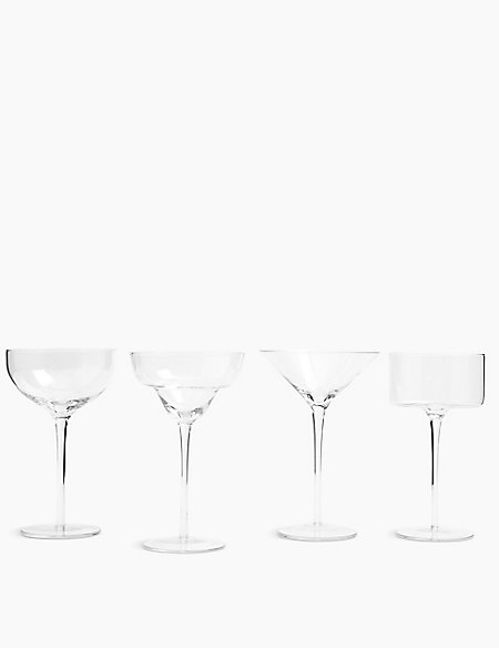 Set of 4 Cocktail Glasses