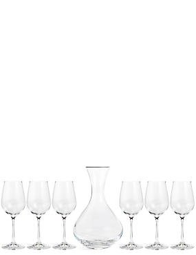 7 Piece Carafe & Wine Glass Set