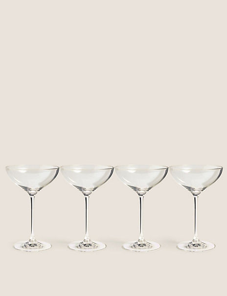 The Sommelier's Edit Set of 4 Champagne Saucers