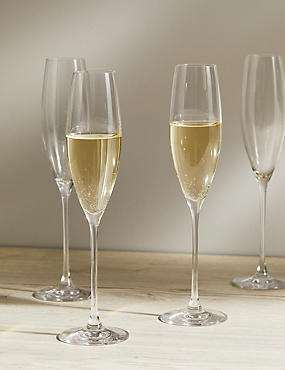 The Sommelier's Edit 4 Pack Champagne Flutes