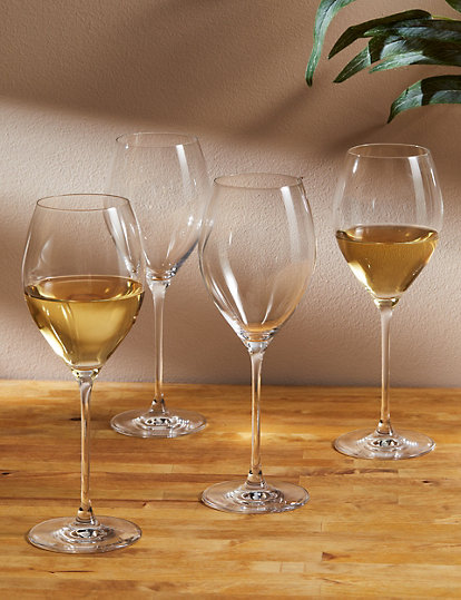 The Sommelier's Edit Set of 4 Large White Wine Glasses