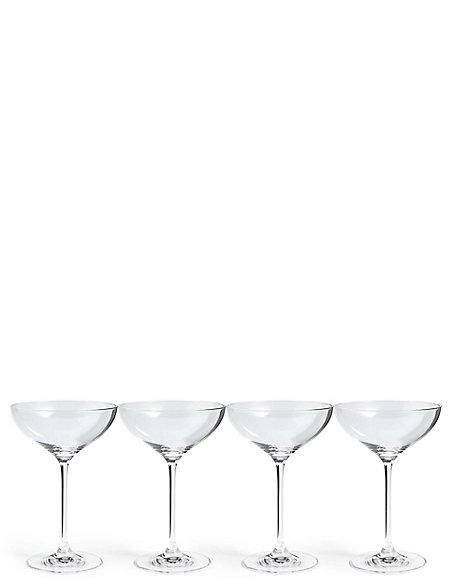 Sommelier 4 Pack Champagne Saucers