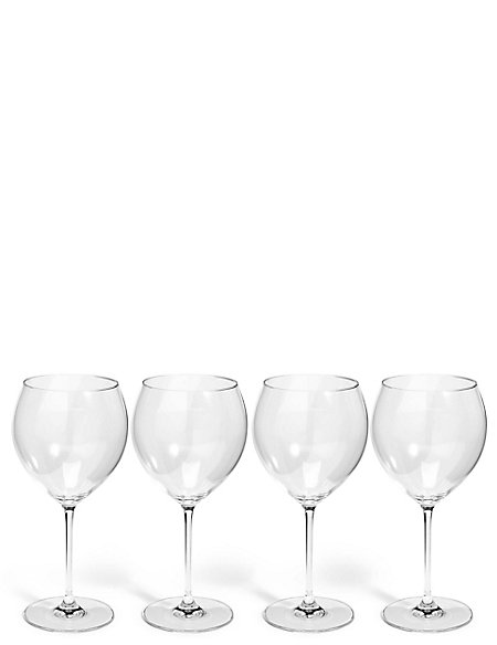 Sommelier 4 Pack Large White Wine Glasses