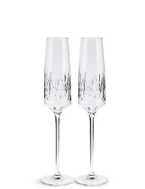 Set of 2 Nouveau Flute Glasses