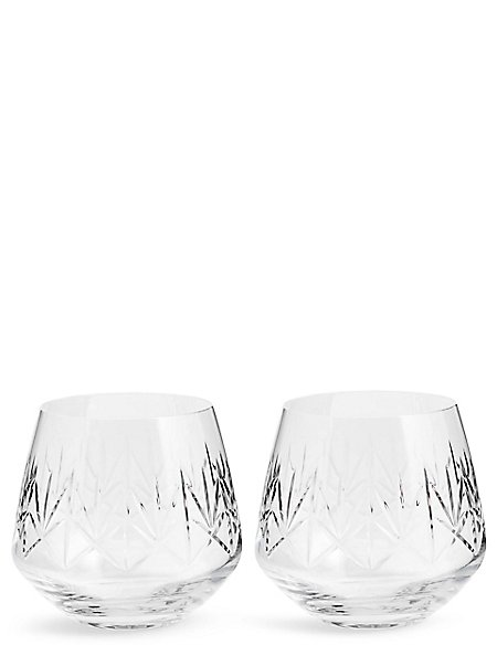 Set of 2 Nouveau Tumbler Glasses
