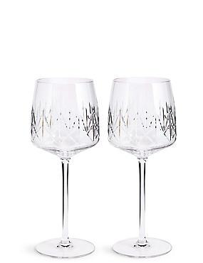 Set of 2 Nouveau Wine Glasses