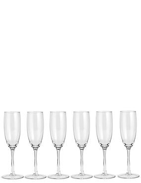 Extraordinary Value 6 pack Champagne Flutes