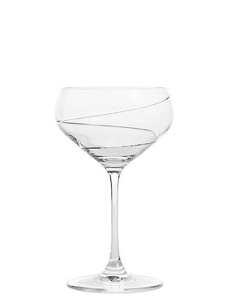 Swirl Set of 4 Champagne Coupes