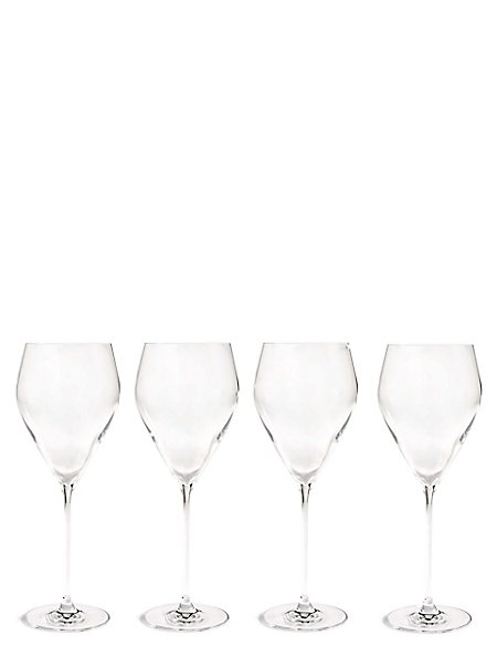 4 Pack Lily White Wine Glasses