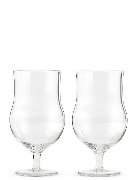 Set of 2 Craft Snifter Beer Glasses