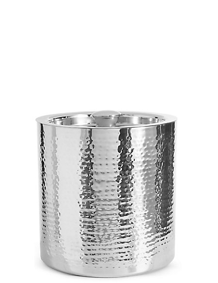 Hammered Metal Ice Bucket