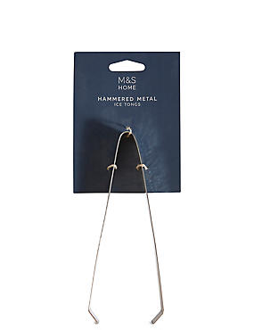 Hammered Metal Ice Tongs