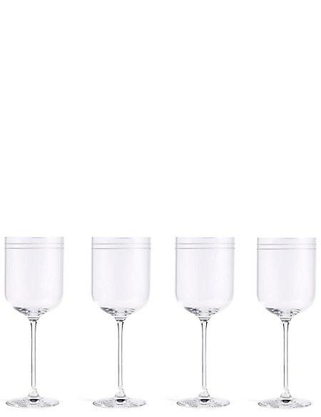 Set of 4 Marlowe Stripe Red Wine Glasses
