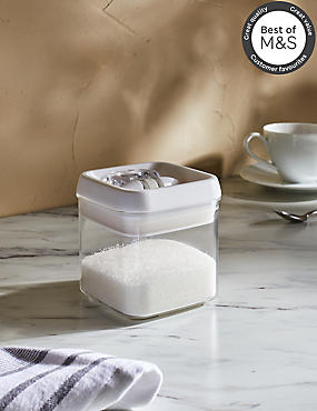 Small Flip Lock Storage Jar