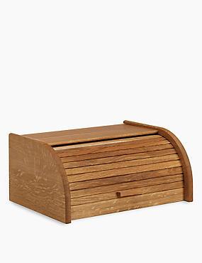 Oak Slatted Bread Bin