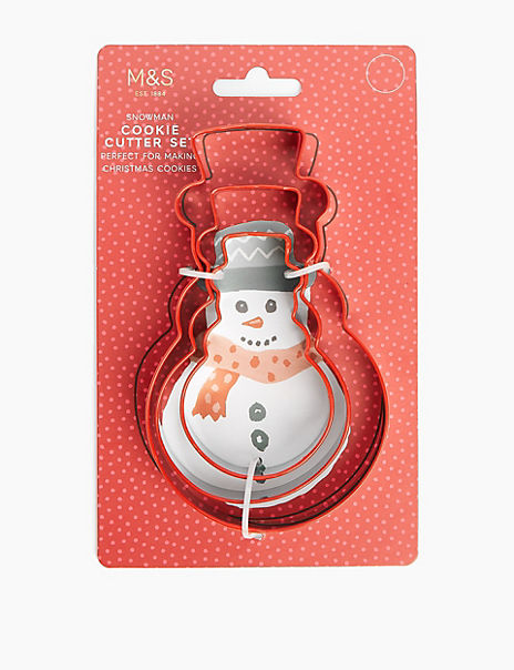 Silicone Snowman Cookie Cutter Set