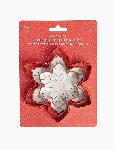 Silicone Snowflake Cookie Cutter Set